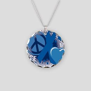 Colon-Cancer-PLC-blk Necklace Circle Charm