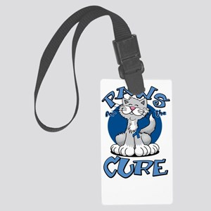 Paws-for-the-Cure-Cat-Colon-Canc Large Luggage Tag