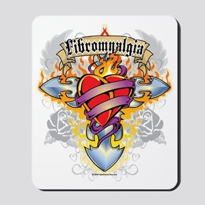 Fibromyalgia-Cross--Heart Mousepad