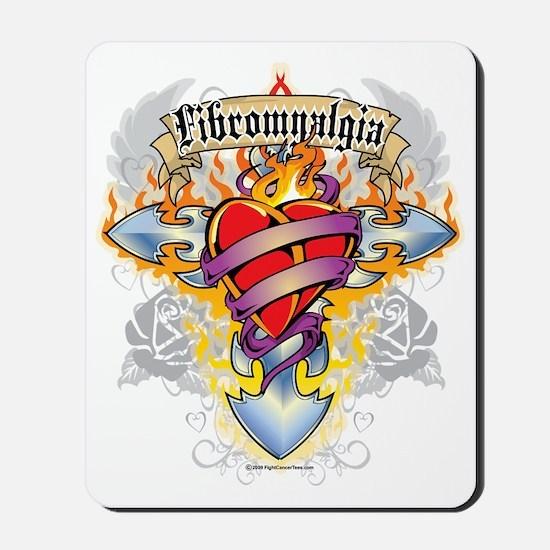 Fibromyalgia-Cross--Heart Mousepad