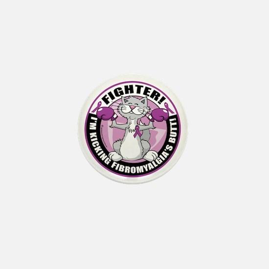 Fibromyalgia-Fighter-Cat Mini Button