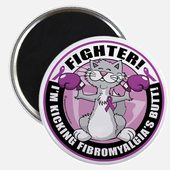 Fibromyalgia-Fighter-Cat Magnet