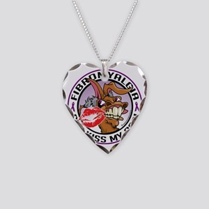 Fibromyalgia-Kiss-My-Ass Necklace Heart Charm