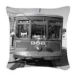 Streetcar 906 Woven Throw Pillow