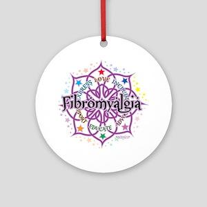Fibromyalgia-Lotus Round Ornament