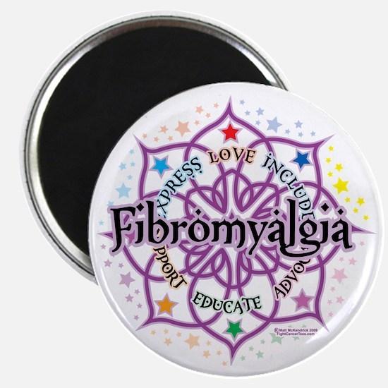 Fibromyalgia-Lotus Magnet
