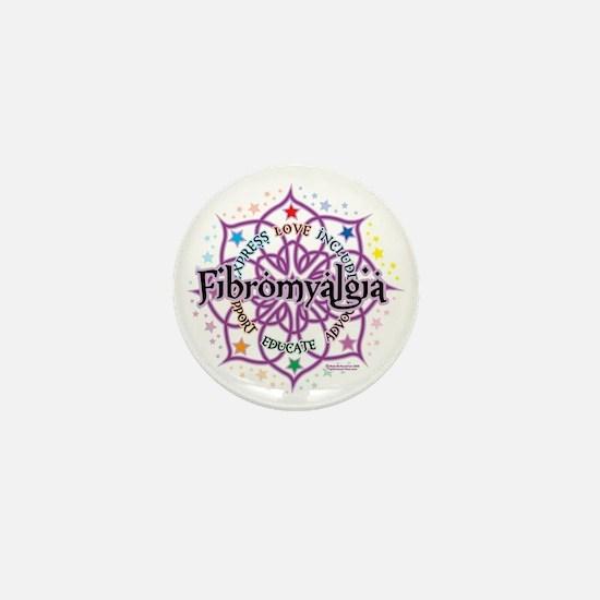 Fibromyalgia-Lotus Mini Button
