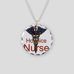 CAD. Hospice Nurse  Necklace Circle Charm