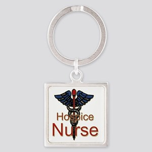 CAD. Hospice Nurse  Square Keychain
