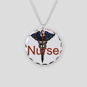 CAD. Nurse  Necklace Circle Charm