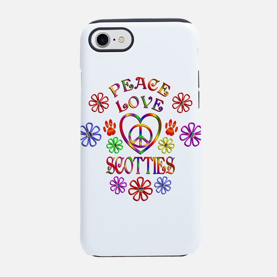 Peace Love Scotties iPhone 7 Tough Case