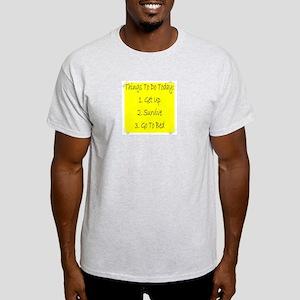 Things To Do  Ash Grey T-Shirt