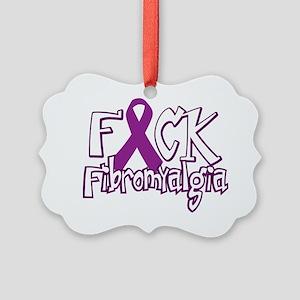 Fuck-Fibromyalgia-blk Picture Ornament