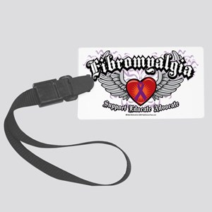 Fibromyalgia-Wings Large Luggage Tag