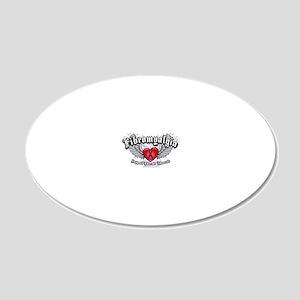 Fibromyalgia-Wings 20x12 Oval Wall Decal