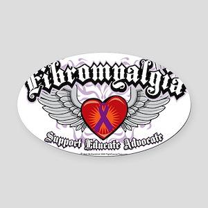 Fibromyalgia-Wings Oval Car Magnet