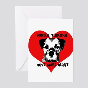 Border Terriers Have More Hea Greeting Cards (Pack