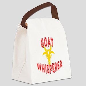 goat whisperer dark Canvas Lunch Bag