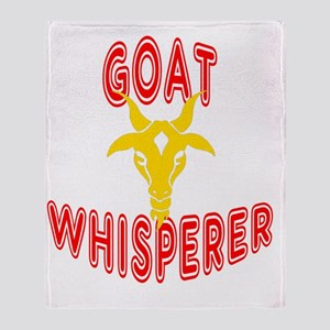 goat whisperer dark Throw Blanket