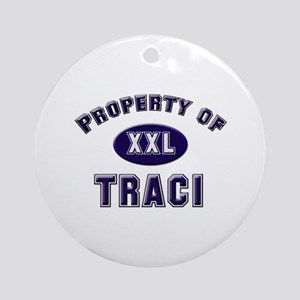 My heart belongs to traci Ornament (Round)