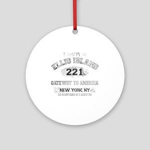 ellis island dark Round Ornament