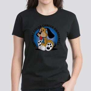 Colon-Cancer-Dog Women's Dark T-Shirt