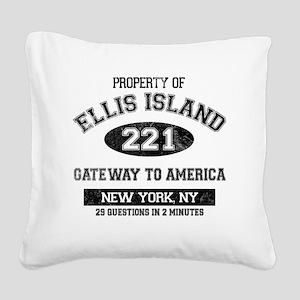 ellis island Square Canvas Pillow