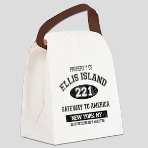 ellis island Canvas Lunch Bag