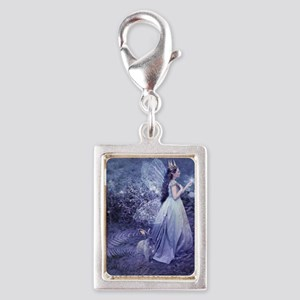 SoifraQueen, cropped Silver Portrait Charm