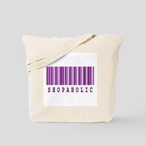 Shopaholic Barcode Design Tote Bag