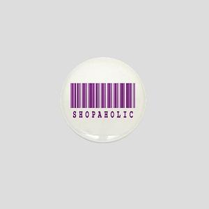 Shopaholic Barcode Design Mini Button