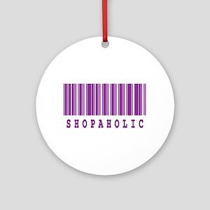 Shopaholic Barcode Design Ornament (Round)