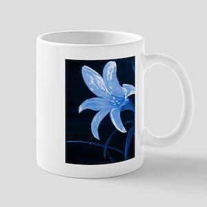 Blue Flower Lily Mugs