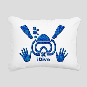 IDIVE 2010 FINS BLUES Rectangular Canvas Pillow