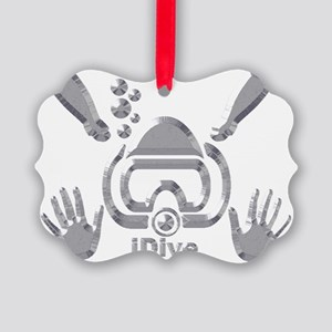 IDIVE 2010 SILVER Picture Ornament
