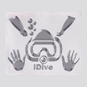 IDIVE 2010 SILVER Throw Blanket