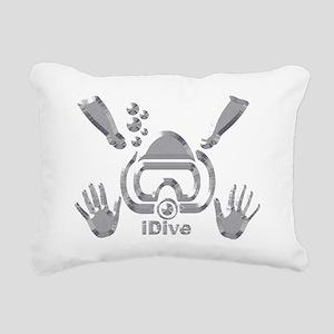 IDIVE 2010 SILVER Rectangular Canvas Pillow
