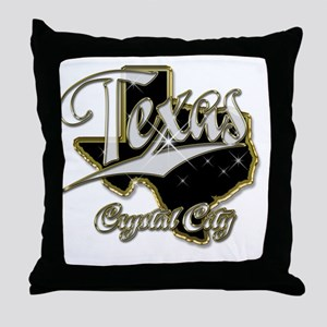 crystalcitybling Throw Pillow