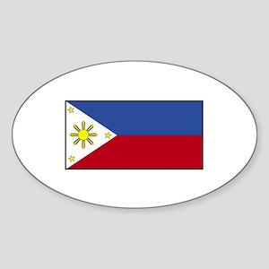 Philippines Flag Oval Sticker