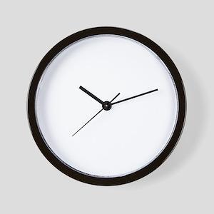 Motivation Man Running White on Trans c Wall Clock
