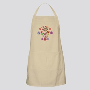 Peace Love Pugs Light Apron