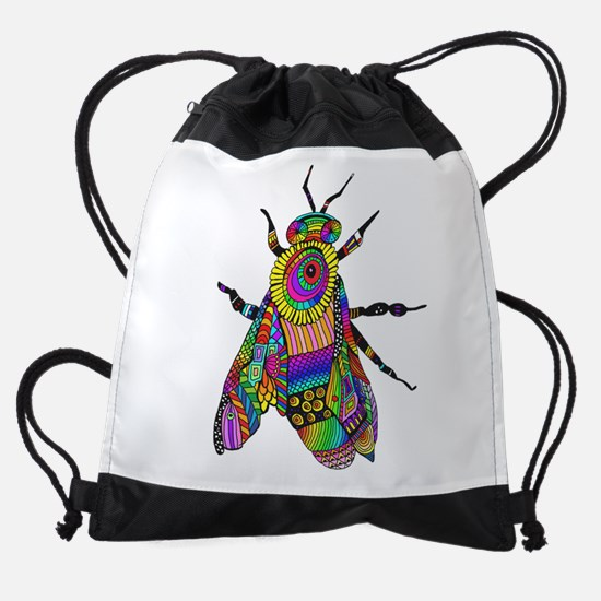 Painted Bee Drawstring Bag