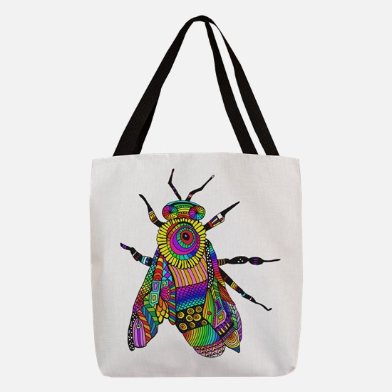 Painted Bee Polyester Tote Bag