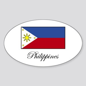 Philippines - Flag Oval Sticker