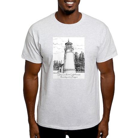 Umpqua River Lighthouse Ash Grey T-Shirt