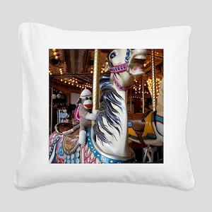 merrygoround Square Canvas Pillow