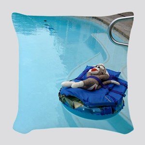 2-pool Woven Throw Pillow