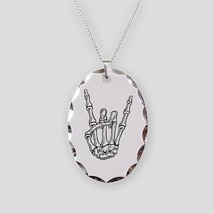 rock-bone2-T Necklace Oval Charm