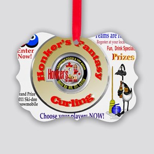 Curling Picture Ornament