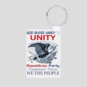Republican Unity Aluminum Photo Keychain